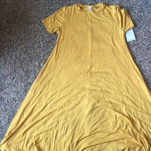 Mustard knee length dress